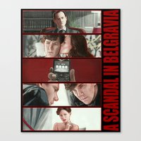 scandal Canvas Prints featuring A Scandal in Belgravia by Alessia Pelonzi