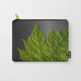 Green Leaf & Metallic Background Carry-All Pouch