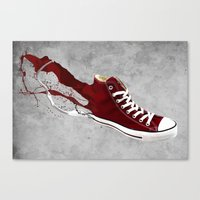 converse Canvas Prints featuring Converse by Gayle Storm
