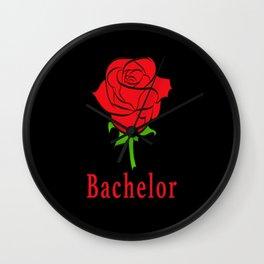 Beautiful bachelor rose as a flower Love Love Wall Clock