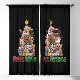 Feliz Navidog - Feliz Navidad For Dog Owner Blackout Curtain