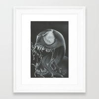 venom Framed Art Prints featuring venom by Dan Solo Galleries