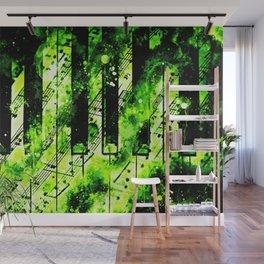 piano keys and music sheet pattern wseegr Wall Mural