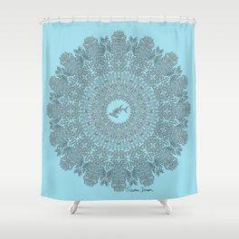 Tribal Hammerhead Shark Mandala Shower Curtain