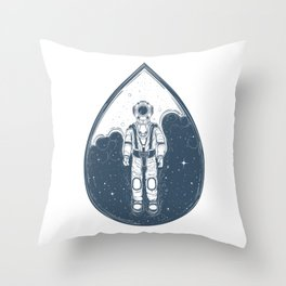 A Drop In Space Throw Pillow