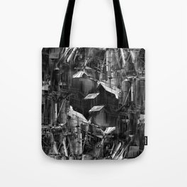 Post-Modern Industrial Complex:  The Art of Regressing Tote Bag