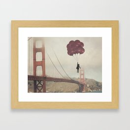 Floating over the Golden Gate Framed Art Print