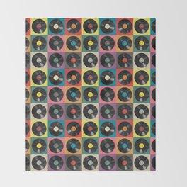 Vinyl Record Throw Blanket