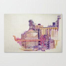 it smelled like bread at first Canvas Print