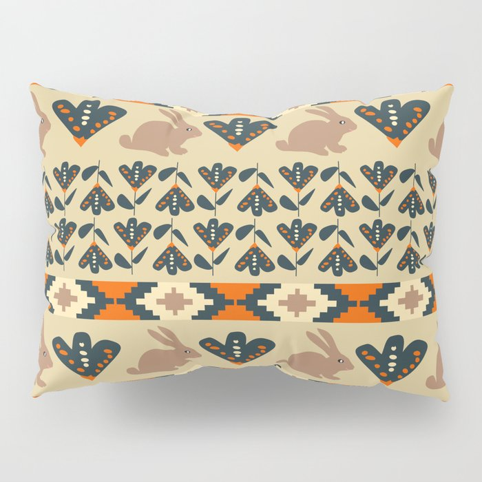 Flowers and chocolate bunnies Pillow Sham
