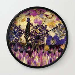 Petals As Paint - Purple Passion Wall Clock