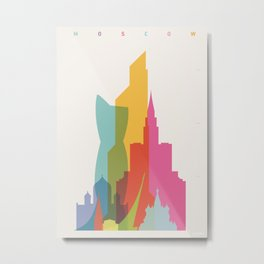 Shapes of Moscow Metal Print