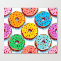 donuts Canvas Prints featuring Donuts by Helene Michau