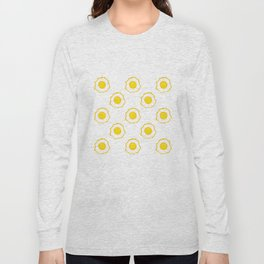 Eggs Pattern Long Sleeve T-shirt