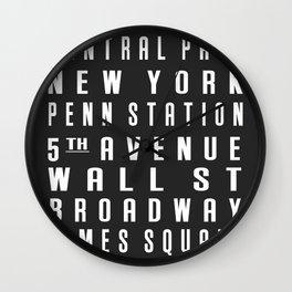 New York City Subway Sign Wall Clock