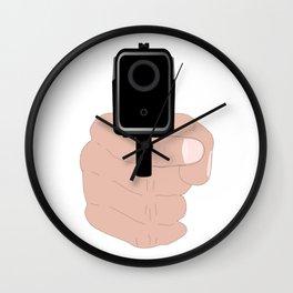 Hand Gun Wall Clock