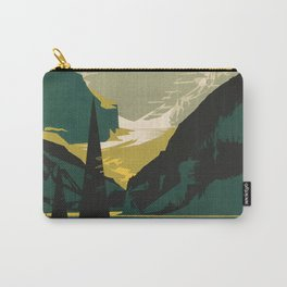 Lovely Lake Louise vintage travel ad Carry-All Pouch
