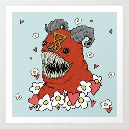 Lovey Devil Art Print