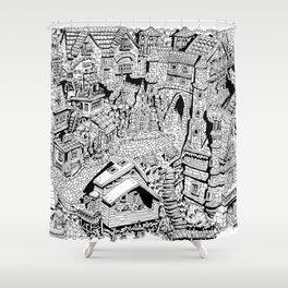 Capharnaüm City Shower Curtain