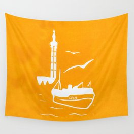 Home in Yellow Wall Tapestry