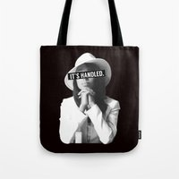 scandal Tote Bags featuring Olivia Pope Scandal It's Handled by Zharaoh