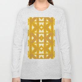Yellow Pima Shibori Long Sleeve T-shirt