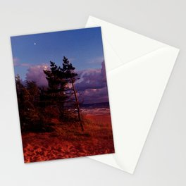 Red Pine and Moon Stationery Cards