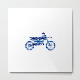 Sport motorcycle watercolor Metal Print