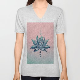 Intricate Lotus Unisex V-Neck