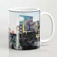 san diego Mugs featuring San Diego  by Jennifer Silcott