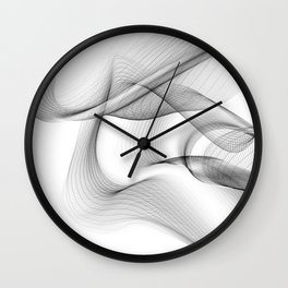 Minimal black and white smoky flux in motion #abstractart #decor Wall Clock