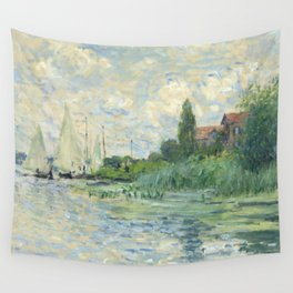 """Claude Monet """"Les bords de la Seine au Petit-Gennevilliers"""" Wall Tapestry"""