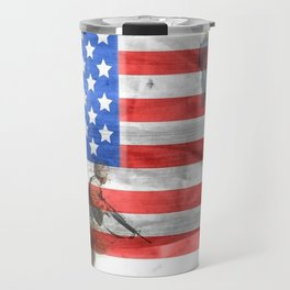 Veterans American Flag Travel Mug