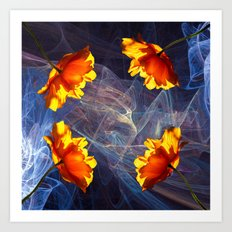 Magic of the light Art Print