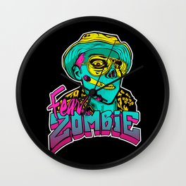 Fear the Zombie Wall Clock