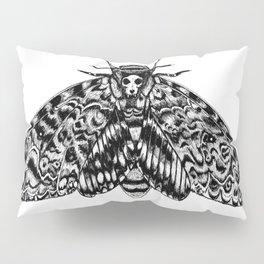 Death's Head Hawk Moth with Cat Skull Pillow Sham