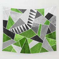 concrete Wall Tapestries featuring Concrete Jungle by Elisabeth Fredriksson