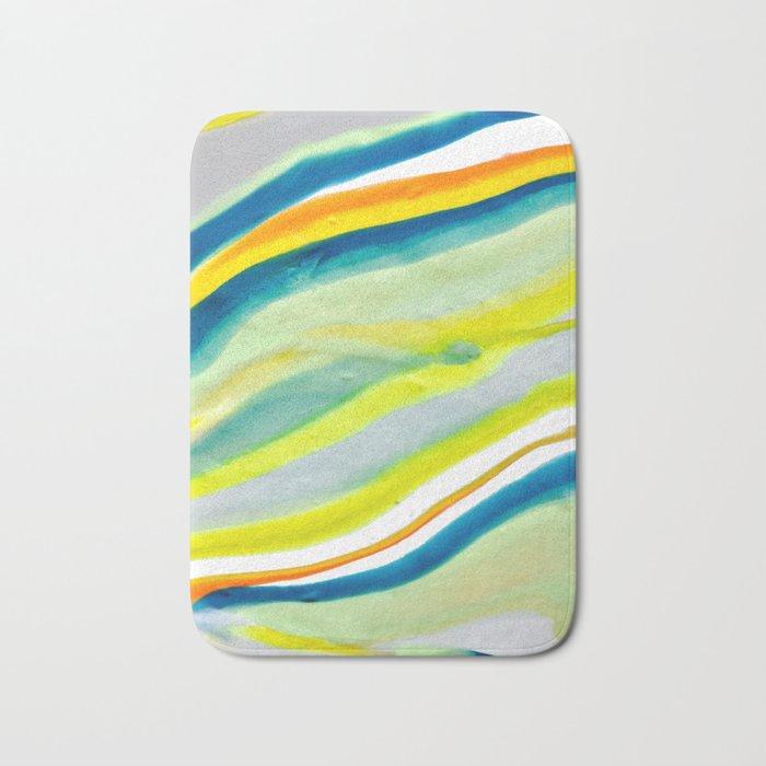 Earth Lines Marbling, Unite Bath Mat