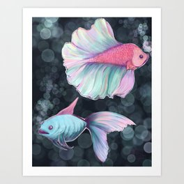 Bloop FIsh Art Print