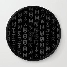 The Tomb Raider's Shields Wall Clock
