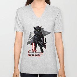 Cat Darth Vader  Unisex V-Neck