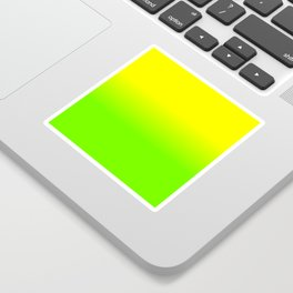 Neon Yellow and Neon Yello Green Ombré  Shade Color Fade Sticker
