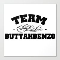 pretty little liars Canvas Prints featuring Team Buttahbenzo - Pretty Little Liars (PLL) by swiftstore