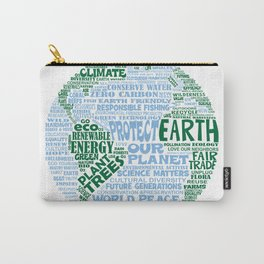Protect Earth Word Bubble Carry-All Pouch