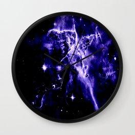 Violet Purple Galaxy Nebula Space Wall Clock