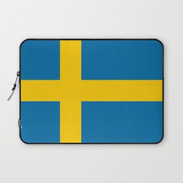 Flag of Sweden - Authentic (High Quality Image) Laptop Sleeve