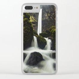 Elowah Falls, Horizontal Clear iPhone Case