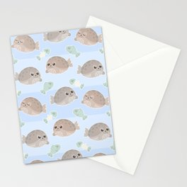 Seal pattern Stationery Cards