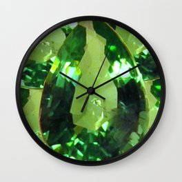 LIME GREEN PERIDOT GEMS AUGUST BIRTHSTONES Wall Clock