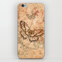 butterflies iPhone & iPod Skins featuring Butterflies by nicky2342